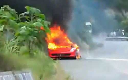 Ferrari 458 Italia Burns To Ground In China