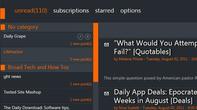 Mishra Reader Adds Animations and an Attractive Windows 8 Look to Google Reader