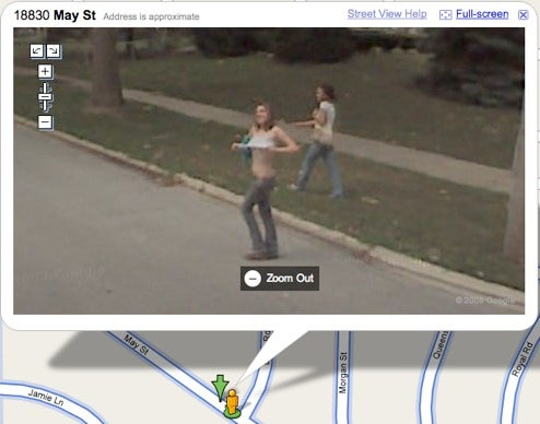 Girl Flashes Google Mapmakers' Cameras