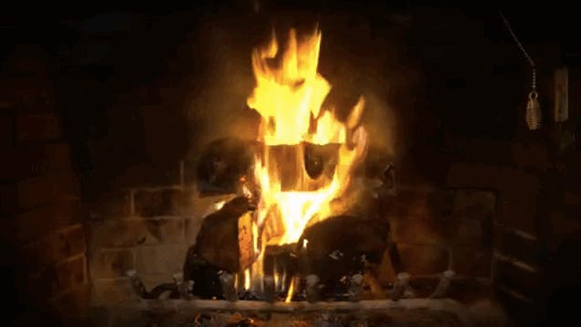 Come Join Us 'Round the Yule Log GIF