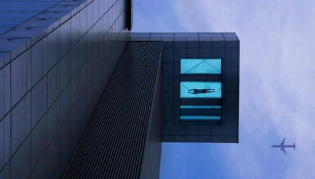 Would You Swim in This Glass-Bottomed Hotel Pool Perched 24 Floors Above Ground?