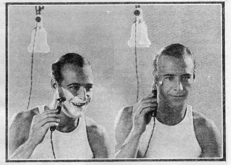 Electric Shaver 1920 ~ This was an electric razor and face massager in