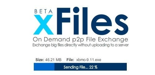 XFiles Transfers Bulky Files from Browser to Browser