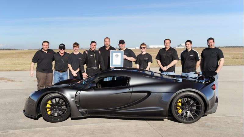 Watch The Hennessey Venom GT Shatter Two World Speed Records