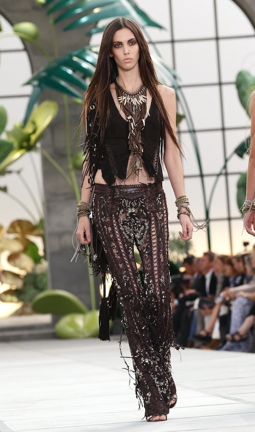 Roberto Cavalli: Slinky Flappers Meet Rich Hippies