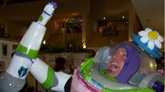 Buzz Lightyear/Mrs. Nesbitt cosplay is the best costume of 2011