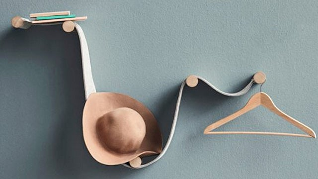 Mount This Flexible Felt Shelving System However You Want