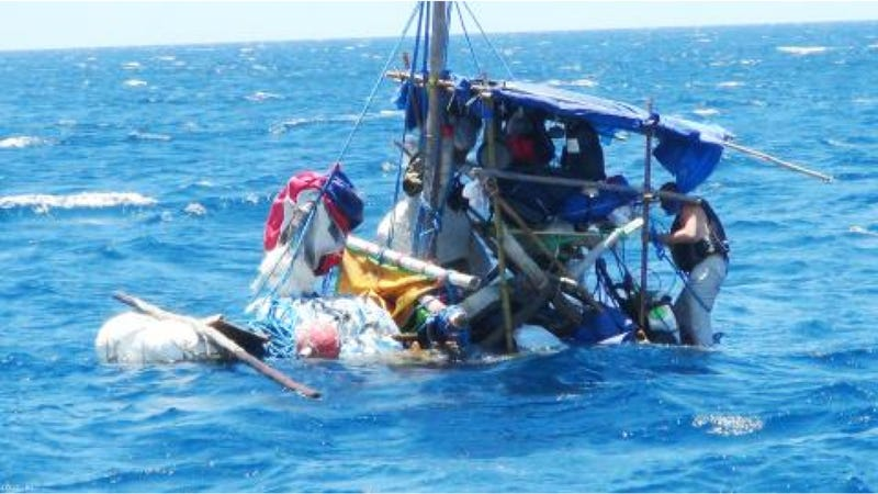 'Madcap Escape' From Taiwan To Japan In Homemade Raft Ends Poorly