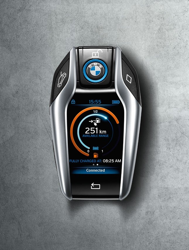 Found out what the BMW i8 key looks like. Fancy.