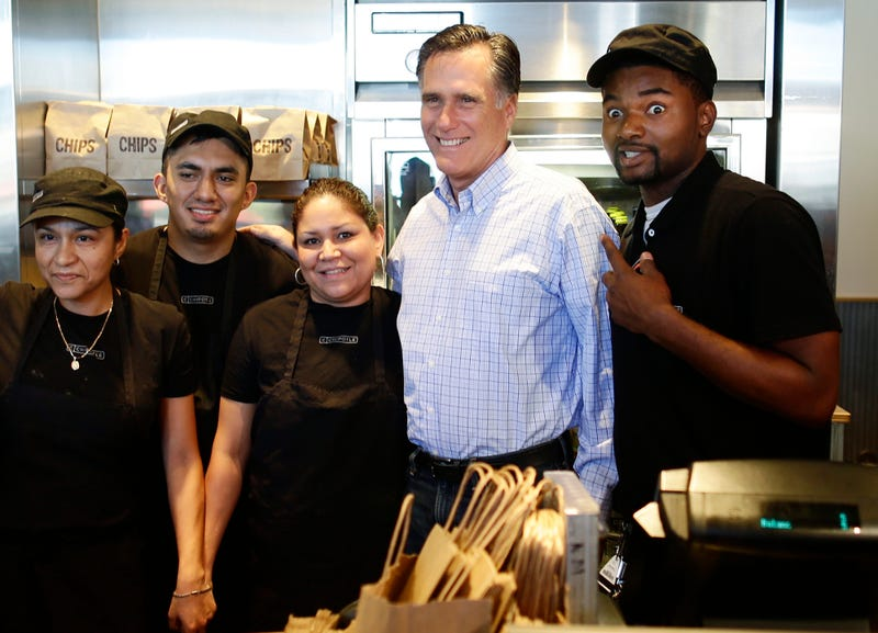 Chipotle Manager Who Photobombed Mitt Romney Speaks: 'It's a Facial Expression I Do When I'm Excited'