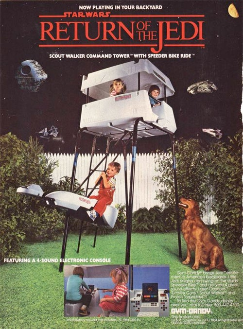 AT-AT Jungle Gym From 1984 Had 4-Sound Electronic Console