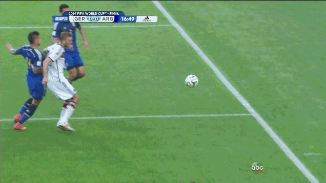 Germany's Christoph Kramer Takes A Nasty Hit To The Head