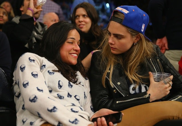 Michelle Rodriguez Got Drunk, Made Out With A Model At The Knicks Game
