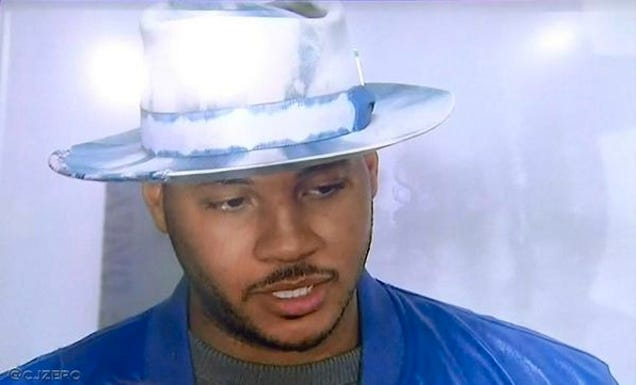 We Have To Talk About Carmelo Anthony's Hat