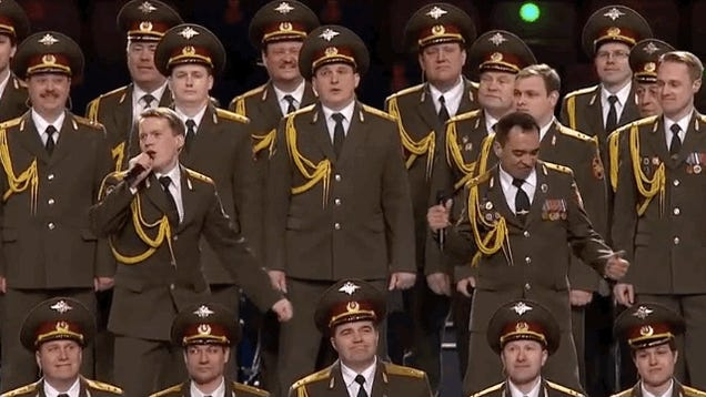 """Watch a Russian Police Choir Sing """"Get Lucky"""" at the Opening Ceremony"""