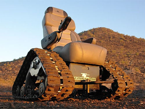 Extreme Tank Wheelchair Gets Upgraded: Rascal Owners...Be Very Afraid