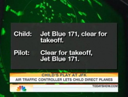 Child Directs Traffic At JFK Airport, Planes Don't Crash