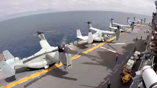 This Time Lapse Shows Literally A Boat Load Of MV-22 Osprey Departures