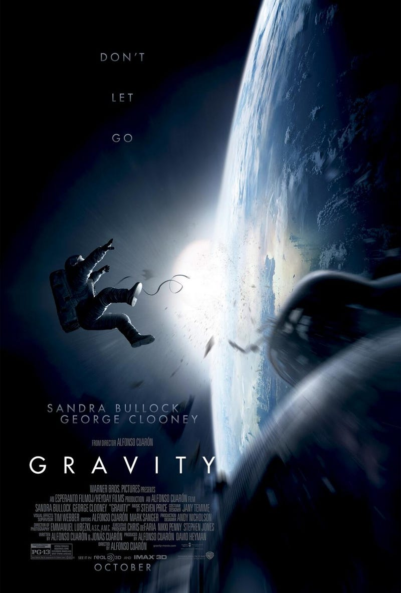 Chilling poster for Alfonso Cuarón's Gravity sets up a space nightmare