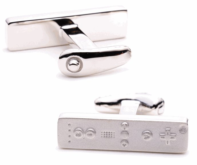 Sterling Silver Wiimote Cufflinks Complements Any Ensemble
