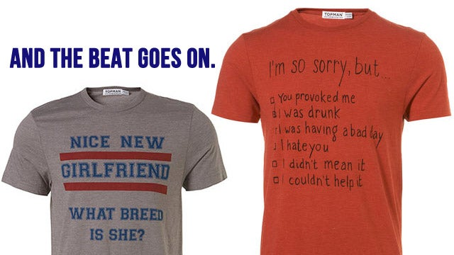 New Topman T-Shirts Imply That Your Girlfriend Is A Dog