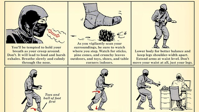 This Chart Shows You How to Silence Your Footsteps Like a Ninja