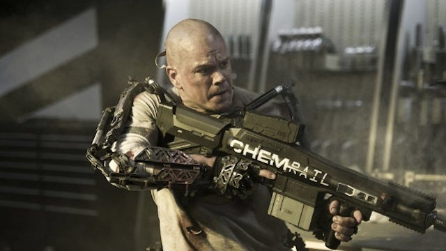 Elysium gives Matt Damon cyborg enhancements in Earth's filthy slums