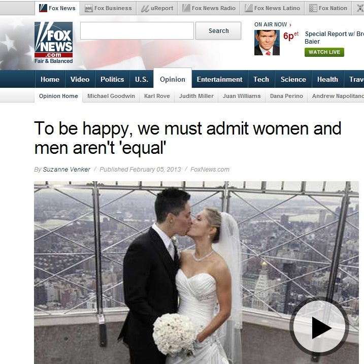 Fox News Accidentally Uses Photo of Same-Sex Couple to Illustrate Article About the Importance of Heterosexual Marriage