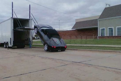 How Not To Unload A Ferrari F430 Spider