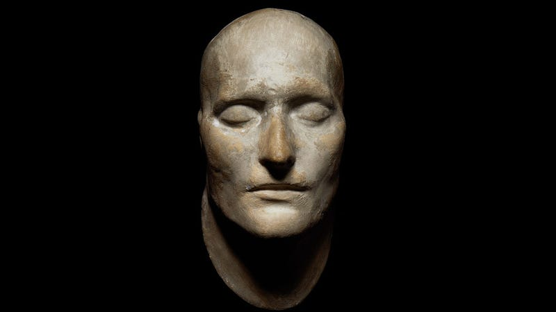 This death mask just sold for $260,000. Can you guess whose it is?