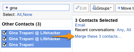 Merge Multiple Emails to One Contact in Gmail