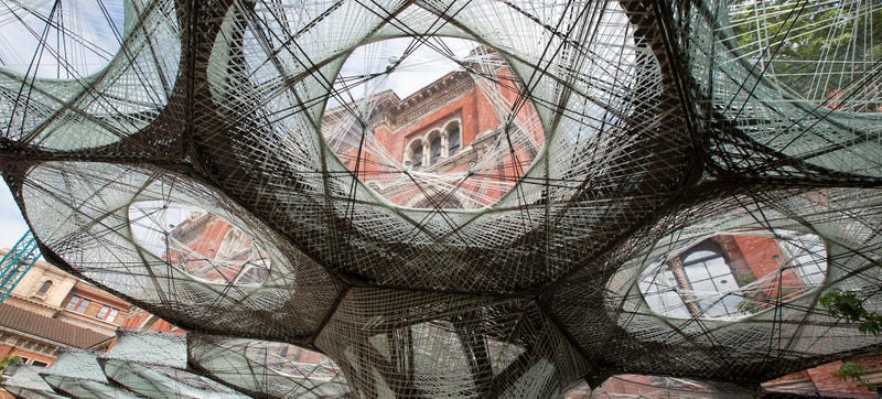 This Amazing Carbon Fiber Pavillion Was Woven by a Robot