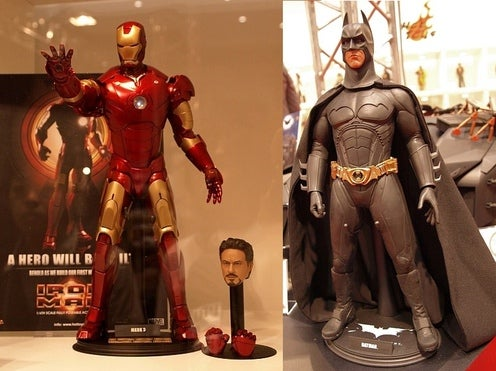 Iron Man and Dark Knight Collectibles Are Super-Detailed Comic Book Hotness