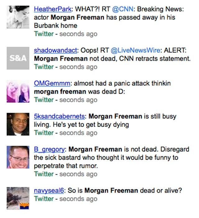 Did CNN Accidentally Tweet That Morgan Freeman Died?