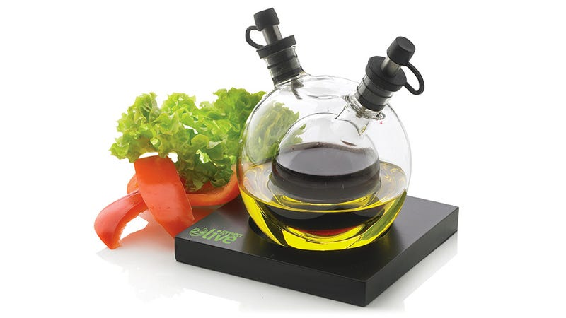 This Oil and Vinegar Dispenser Stores One Inside of the Other