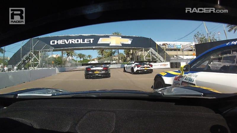 McLaren 12C GT3 In-Car From Pirelli World Challenge Rd 1 At St. Pete