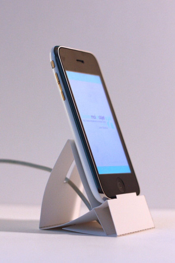 DIY Cardboard iPhone Dock Could Have Come From Apple