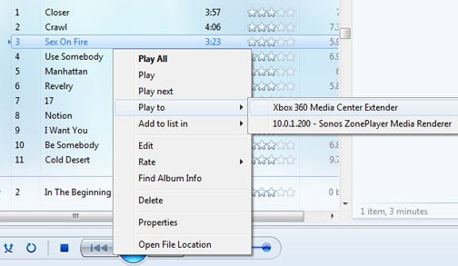 Windows 7 Windows Media Player 12, Play To and Media Compatibility