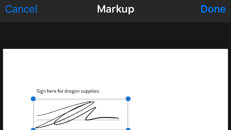Instantly Sign PDFs Directly In the iPhone Mail App
