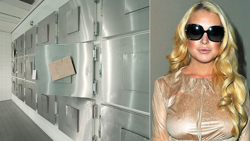 Lindsay Lohan Is Being Forced to Work at the Morgue