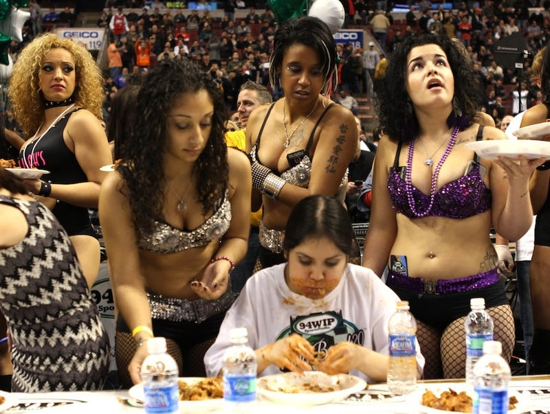 Boobs and Tubes at the Wing Bowl (NSFW)