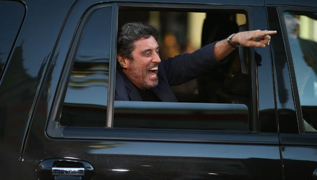 Caption This Photo of A Ridiculously Excited Ian McShane