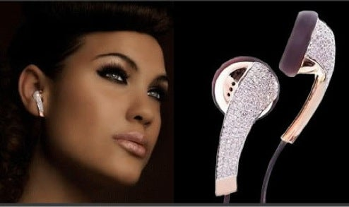 iDiamond Headphones Are Forever, Sparkling on Your Little Earlobe