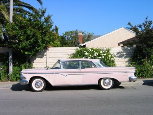 Edsel, Old Trucks Distort Irvine Master Plan's Reality Field