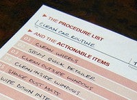 Use a Procedure List to Make Sure Routine Tasks Are Done Thoroughly