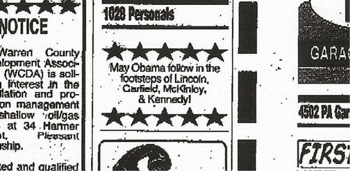 Pennsylvania Paper Flunks U.S. History, Publishes Obama Death Threat