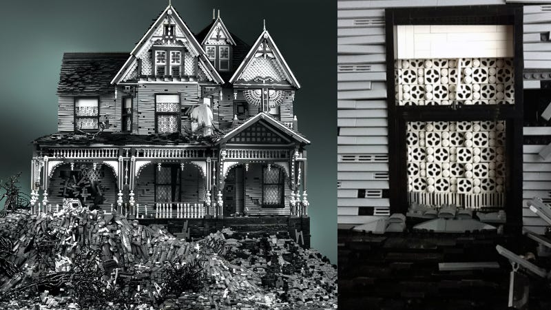 The 130,000-piece decayed Victorian Lego home of my dreams