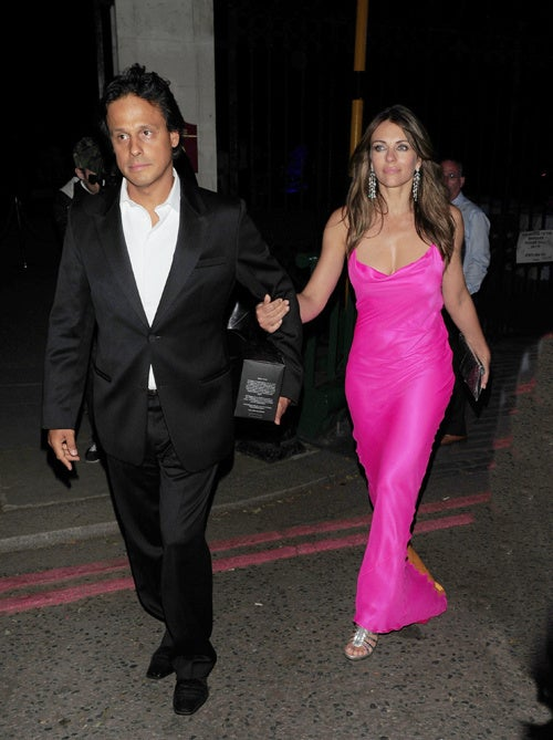 Liz Hurley Lights Up The Night