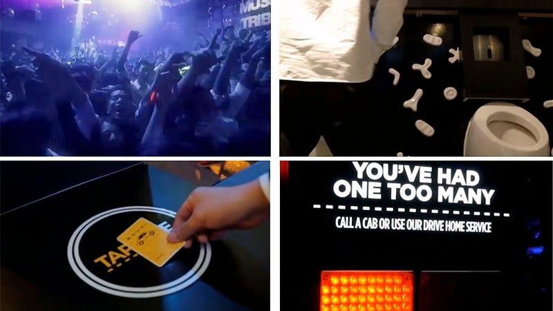 Este retrete de discoteca RFID avisa si has bebido demasiado