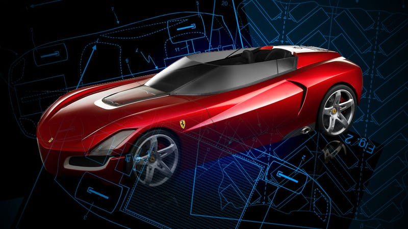 The Secrets Of Ferrari's Next Hybrid Grand Tourer Revealed In Patent